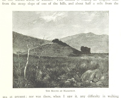 "Image from object titled burial mound from ""Greek Pictures, drawn with pen and pencil"""