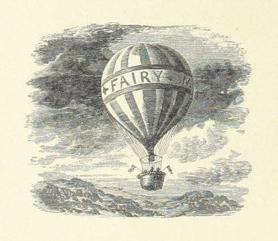 """Image from object titled Hot air balloon from """"Fairy Mary's Dream. By A. F. L. With illustrations by the Author"""""""