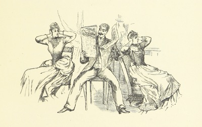 """Image from object titled Newspaper from """"Drawing-Room Plays. Selected and adapted from the French by Lady Adelaide Cadogan. Illustrated by E. L. Shute, etc"""""""