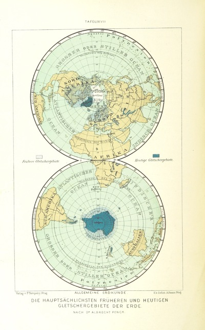 Map From Unser Wissen Von Der Erde Allgemeine Erdkunde Und