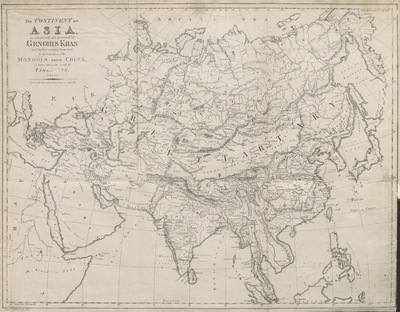 "Image from object titled map from ""Historical Researches on the wars and sports of the Mongols and Romans: in which elephants and wild beasts were employed or slain, and the remarkable local agreement of history with the remains of such animals found in Europe and Siberia ... With a map and ten plates"""