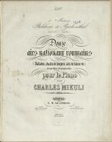 Image from object titled Douze airs nationaux roumains : (ballades, chants des bergers, airs de danse etc.) : recueillis et transcrits pour la piano [3]
