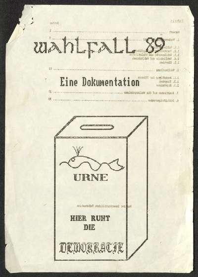 Image from object titled Dokumentation zur Wahlfälschung von 1989 von Frank Drauschke