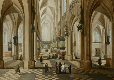 Image from object titled Interior of the Onze Lieve Vrouwekerk in Antwerp