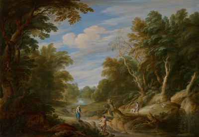 Image from object titled Wooded Landscape with Figures