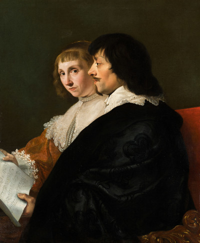 Image from object titled Double Portrait of Constantijn Huygens (1596-1687) and Suzanna van Baerle (1599-1637)