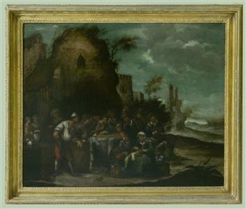 Italian Peasants outside a country Inn