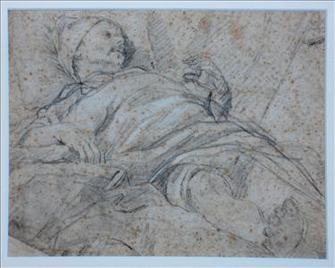 Preparatory drawing for St. Ignatius wounded at Pamplona (Church of Our Lady of Manresa)