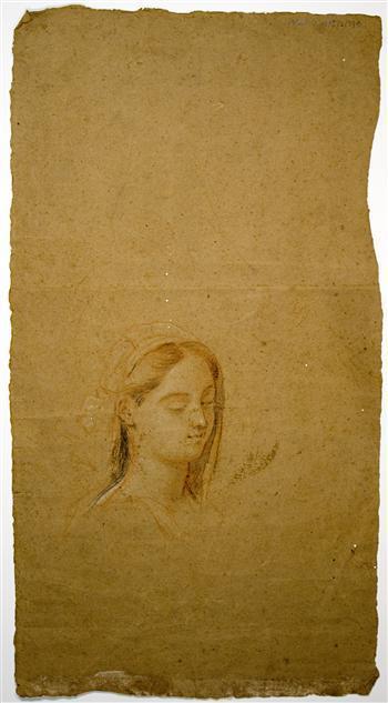 Drawing of female head