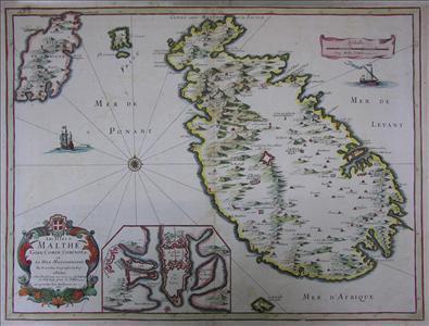 Les isles de Malthe, Goze, Comin, Cominot, &c en la mer Mediterranee.