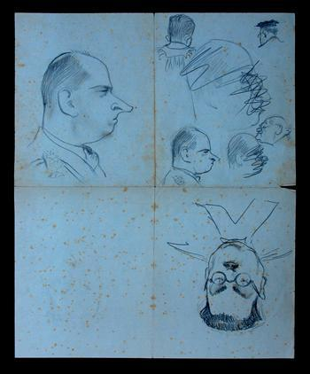 Image from object titled Conspiracy Trial Drawings