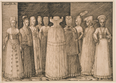 Image from object titled Ten Women from Stralsund (in contemporary attire)