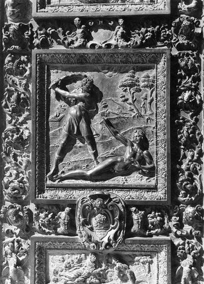 """Bildfeld """"Kain erschlägt Abel"""" an der Bronzetür"""