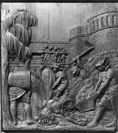 Verscharrung des heiligen Castulus (Altarflügel?)