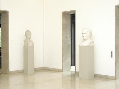 Kolossalbüste Carl Gustav Carus' & Kolossalbüste Ludwig Tiecks