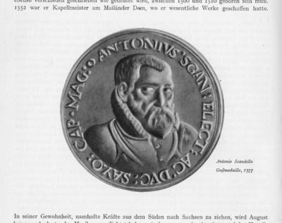 Medaille auf Antonio Scandello