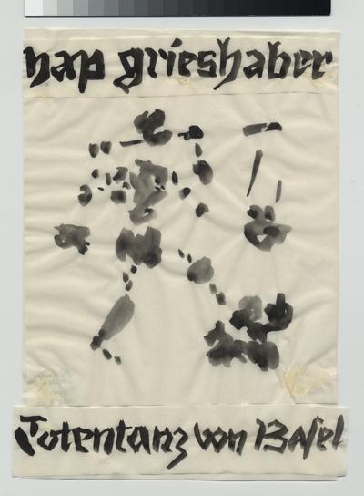 Totentanz von Basel. Entwurf auf Transparentpapier