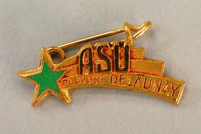 Abzeichen Association Sténographique Unitaire, Prévost-Delaunay (mit Broschennadel)