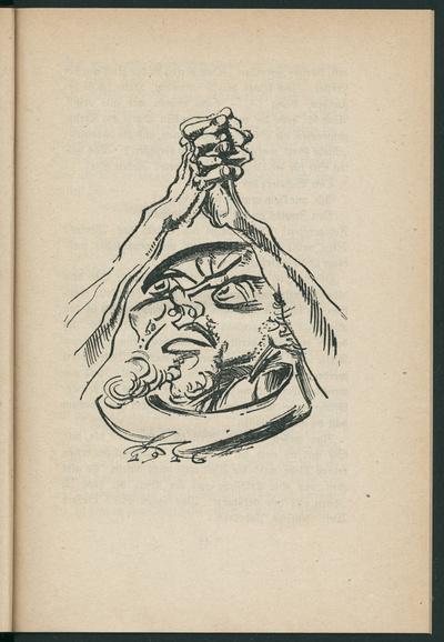 """""""Büßer und Beter"""". Illustration zu Franz Werfel: Blasphemie eines Irren. Zeichnung von Ludwig Meidner 1916. S.43 in: Die neue Dichtung / ein Almanach. Leipzig: Kurt Wolff Verlag 1918. Buchdruck; 17,8 x 12,2 cm. Dresden:..."""