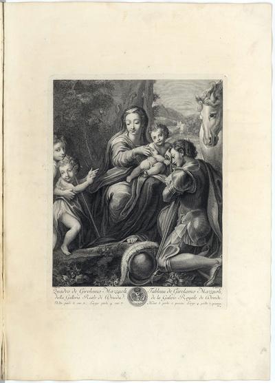 Maria mit dem Kind, dem Heiligen Georg, einem Engel und dem Johannesknaben
