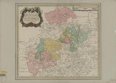 Karte des Reussischen Vogtlands, ca. 1:120 000, Kupferstich, 1740