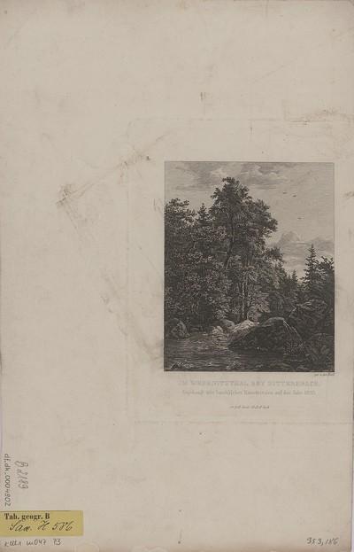 Ansicht des Wesenitztales bei Dittersbach, Kupferstich, 1833