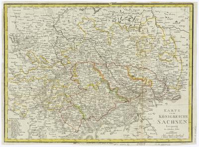 Karte vom Königreich Sachsen, ca. 1:100000, Kupferstich, 1813