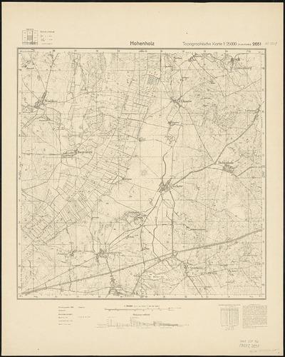 Image from object titled Meßtischblatt 2651 : Hohenholz, 1955