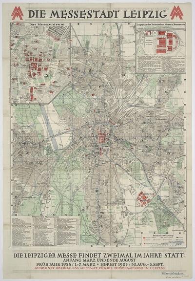 Plan von Leipzig, 1:15 000, Offsetdruck, 1925