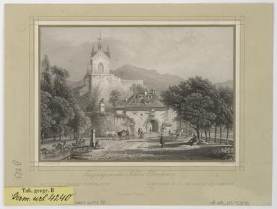 Ansicht von Schloss Eberstein bei Gernsbach, Stahlstich, um 1845?