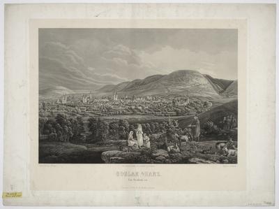 Ansicht von Goslar am Harz, Stahlstich, um 1850?