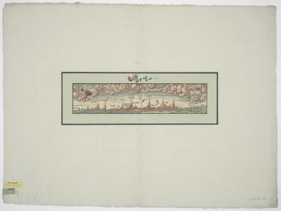 Ansicht von Lübeck, Holzschnitt, um 1550