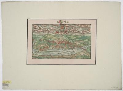 Ansicht von Trier, Holzschnitt, um 1550