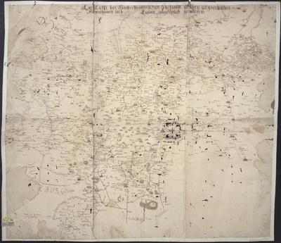 Landkarte des Fürstentums Gotha und Umgegend, 1:160 000, Handzeichnung, um 1750?