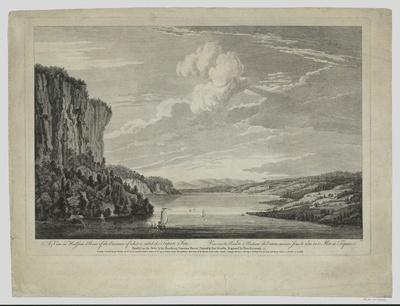 Ansicht des Hudson River beim Eintritt in den so genannten Topan Sea, Kupferstich, 1761