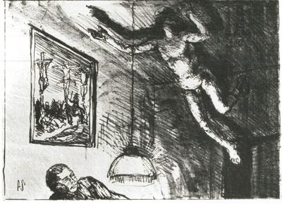 """Der unerlöste Ariel, Illustration zu Shakespeare """"Sturm"""""""