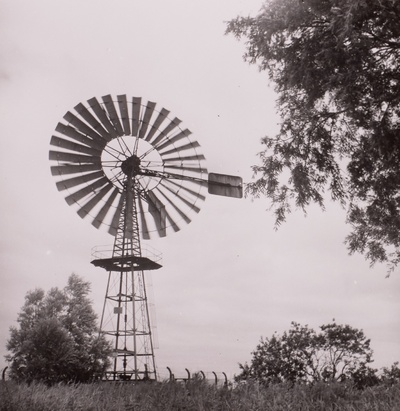 Image from object titled Windkraftanlage mit Gittermast