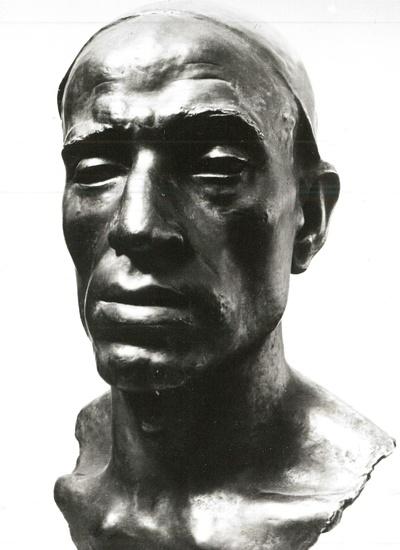 Kopf eines Bergarbeiters