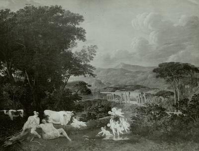 Landschaft mit Merkur und Argus
