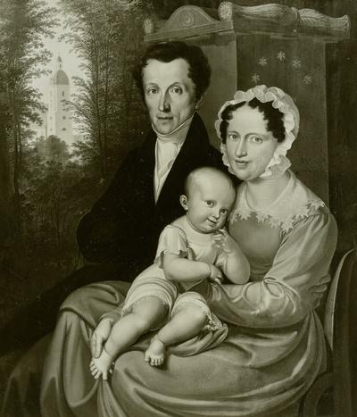 Familie Karl von Heynitz im Park zu Königshain bei Bautzen