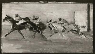 Pferde auf der Rennbahn