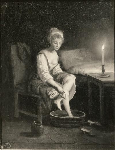 Fußwaschendes Mädchen