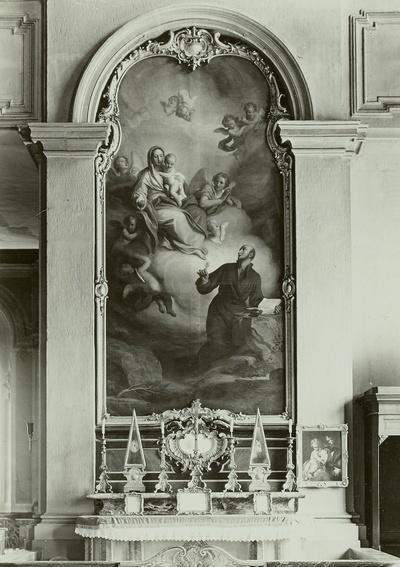 Die Mutter Gottes erscheint dem heiligen Ignatus