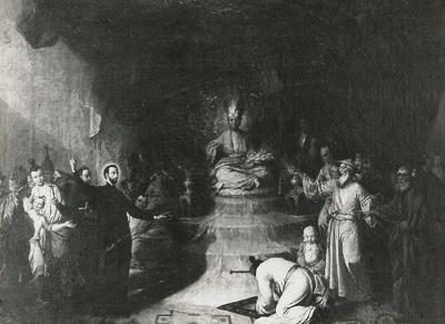 Der heilige Xaver predigt den Chinesen