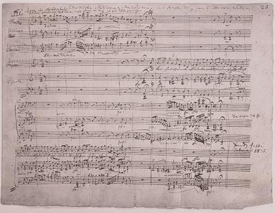 Handgeschriebenes Notenblatt: Schottische Nationalmelodie