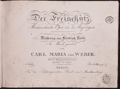 1. Klavierausgabe des Freischütz