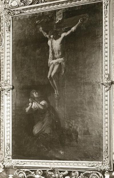 Christus am Kreuz mit Maria Magdalena