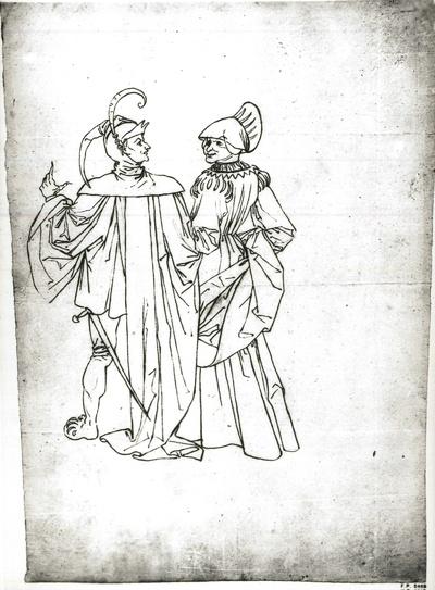 Aus dem Faustzyklus: Mephisto und Frau Marthe im Garten