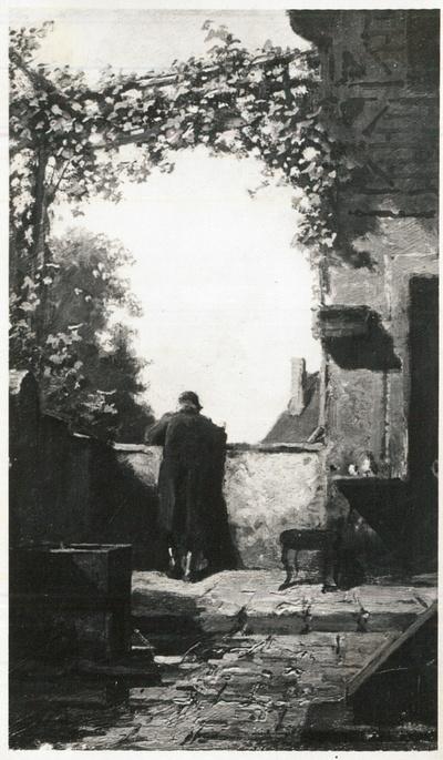 Alter Herr auf der Terrasse