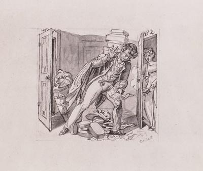 """Illustration zu """"Die putzsüchtigen Frauen"""""""